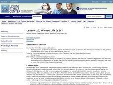 Whose Life Is It? Lesson Plan