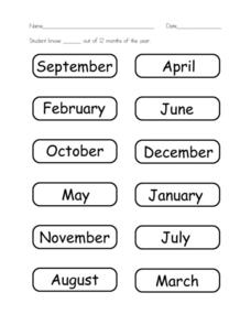 Basic Skills: Months Worksheet
