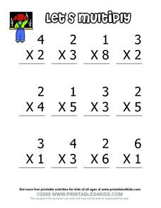 Let's Multiply Worksheet