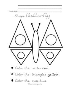 Shape Butterfly Worksheet