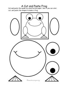 A Cut and Paste Frog Worksheet