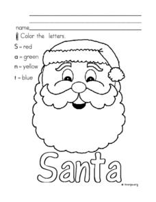 Christmas Santa Worksheet