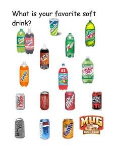 Favorite Soft Drink Worksheet