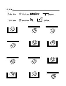 Easter Egg Activity: Spatial Terms Worksheet