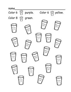 Mardi Gras Coloring Activity Worksheet