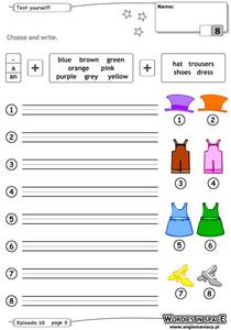 Color Adjectives Worksheet