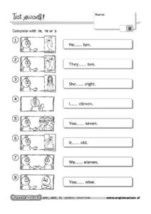 Contractions: Test Yourself Worksheet