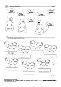 Read and Match: Contraction Practice Worksheet