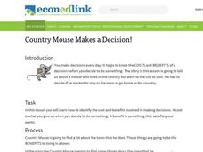 Country Mouse Makes a Decision! Lesson Plan
