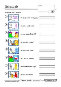 Do and Does Grammar Test Worksheet
