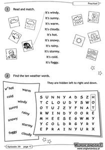 Weather Terms Worksheet