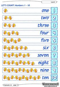 Let's Count! Numbers 1-10 Worksheet