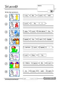 Scrambled Sentences Worksheet