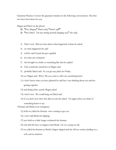 Grammar Practice Worksheet