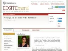 "Courage ""In the Time of the Butterflies"": A Common Core Exemplar Lesson Plan"
