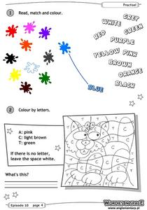 Read, Match and Color Worksheet