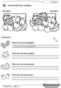 Find the Differences Worksheet