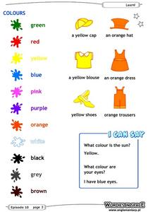 Color Recognition Worksheet