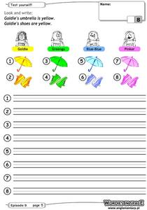 Color Sentences Worksheet