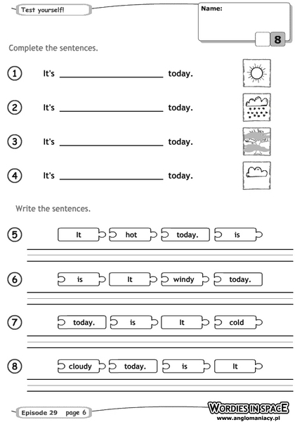 Weather Sentences Worksheet For 1st 2nd Grade Lesson