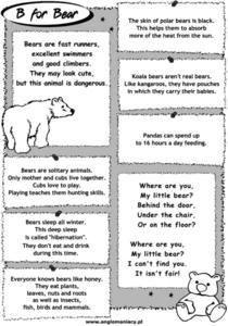 B For Bear Worksheet