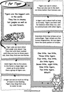 T for Tiger Worksheet