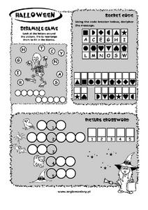 Halloween Activity Worksheet