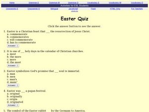 Easter Quiz Worksheet