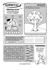 Valentine's Day Activity Worksheet