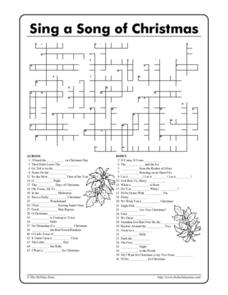 Sing a Song of Christmas 3rd - 12th Grade Worksheet   Lesson Planet