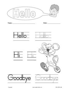 English Greetings Worksheet