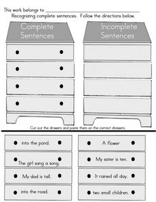 Complete or Incomplete Sentences? Worksheet
