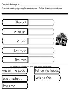 Practice Identifying Complete Sentences Worksheet