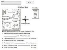A School Map Worksheet