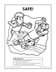 Safe! Coloring Sheet Worksheet