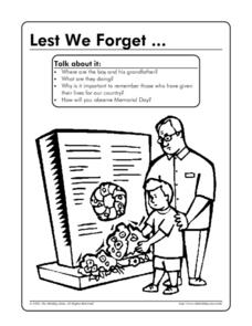 Lest We Forget...Memorial Day Worksheet