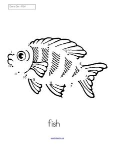 Dot to Dot Fish Worksheet