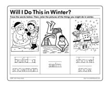 Will I Do This in Winter? Worksheet