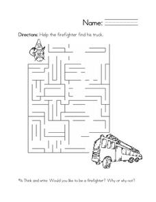 Firefighters Worksheets Reviewed by Teachers