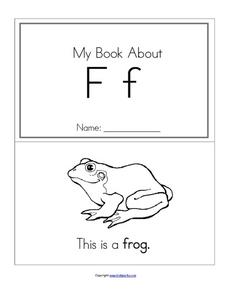 My Book About F Worksheet
