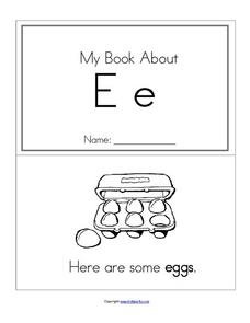 My Book About Ee Worksheet
