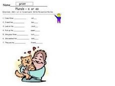 Plurals: S or ES Worksheet