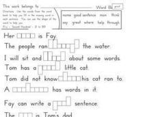 Fry's Second Hundred Sight Word Activity Worksheet