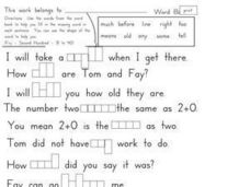 Fry's Sight Words 31-40 Activity Worksheet