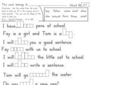 Fry's Sight Words 41-50 Activity Worksheet