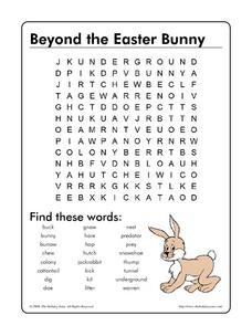 Beyond the Easter Bunny Worksheet