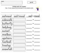 Syllable Activity 6 Worksheet
