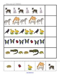 What Comes Next? Animals Worksheet
