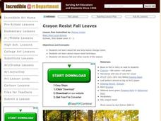 Crayon Resist Fall Leaves Lesson Plan
