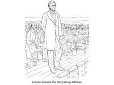 Abraham Lincoln Delivers the Gettysburg Address Worksheet
